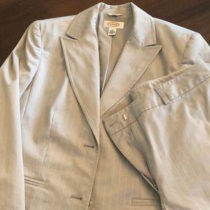 Talbots Gray & White pinstripe suit